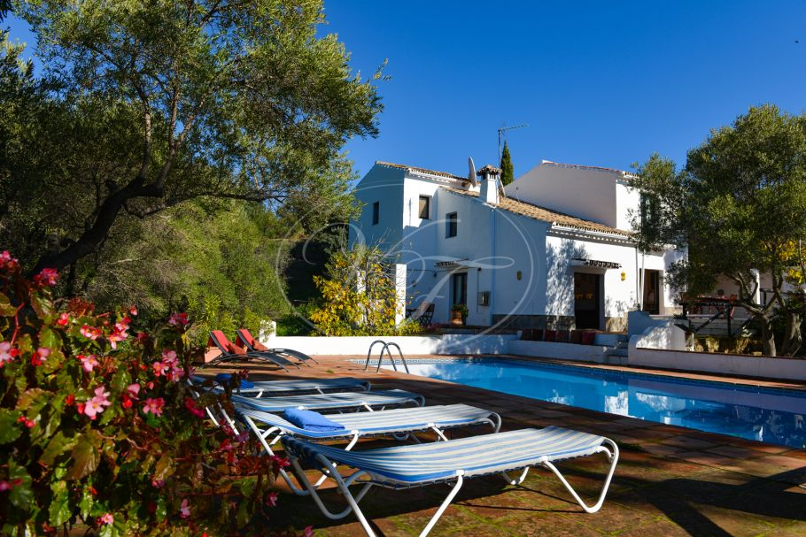 Spacious Finca, country villa with sea views, Casares