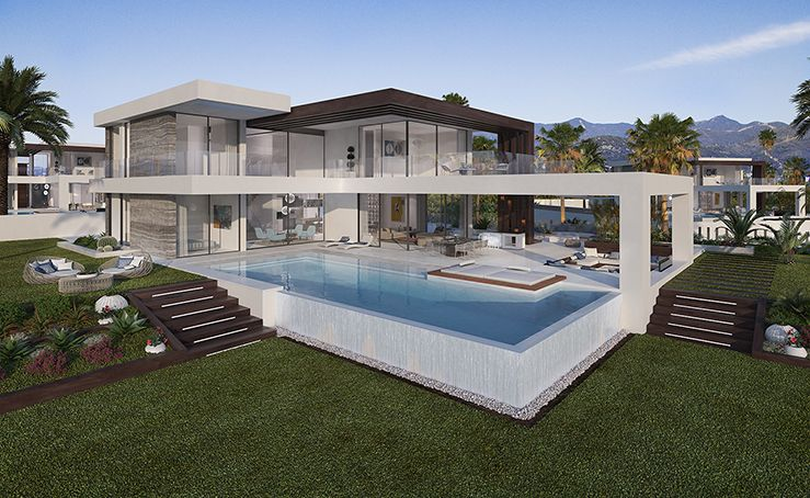 New development of 12 modern villas in Cancelada
