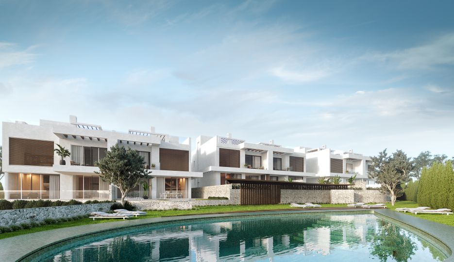New developmet of semi-detached villas with sea views