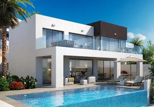 Brand new villas with sea view for sale in La Cala de Mijas