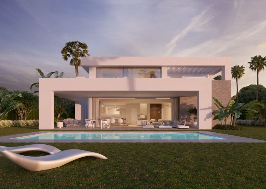 New modern villas for sale in Mijas Costa