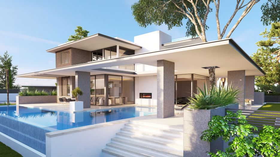 Modern villa for sale in Marbella Golden Mile
