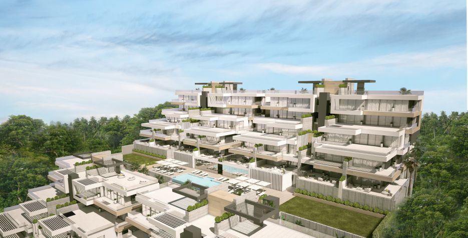 Modern apartments with sea view for sale in Estepona