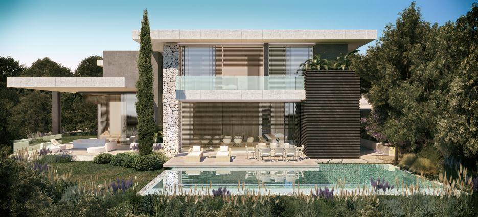 Project of contemporary 16 villas in The Hills, La Quinta