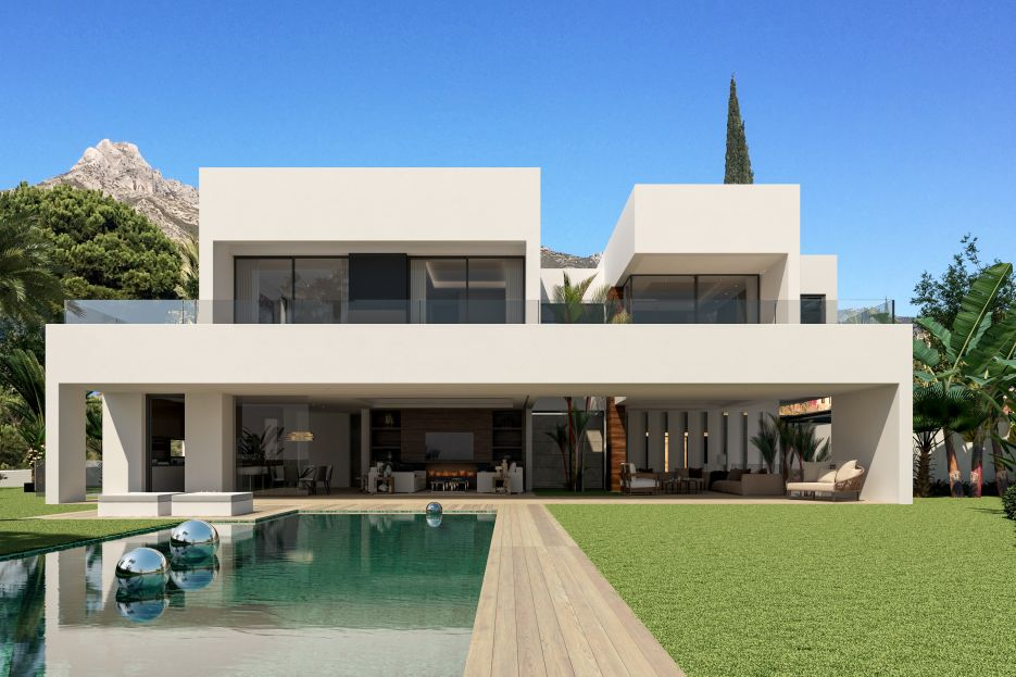 Plot with villa project for sale in Marbella Golden Mile
