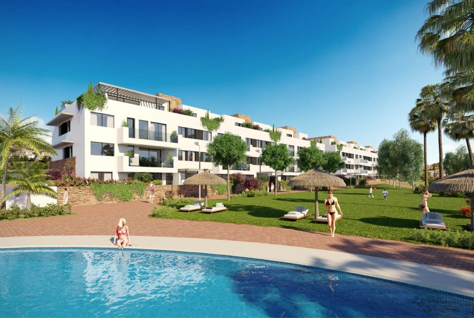 2 bedroom ground floor apartment for sale next to golf in Mijas Costa