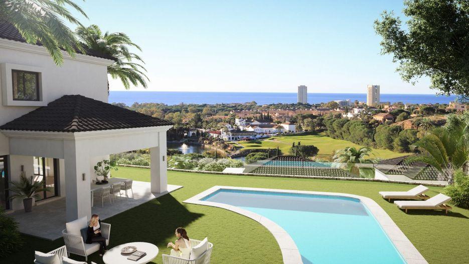 Heaven Marbella is a complex of 40 single villas & semi-detached villas, located in Elviria, Marbella, with panoramic Sea and Golf views.