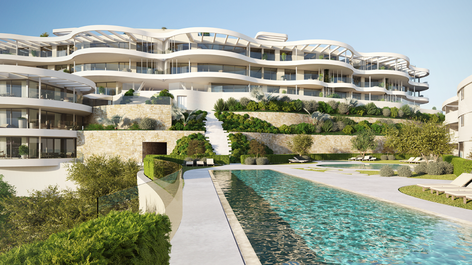 New development of apartments and penthouses