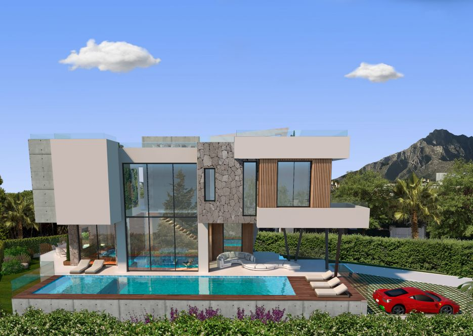 Villa Cypress - Modern beachside villa for sale in Casablanca Beach, Marbella Golden Mile
