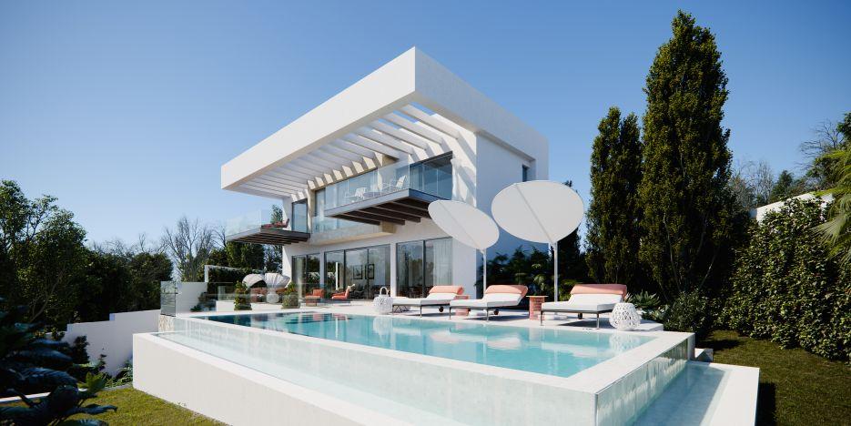 Project of 13 contemporary villas in El Paraiso