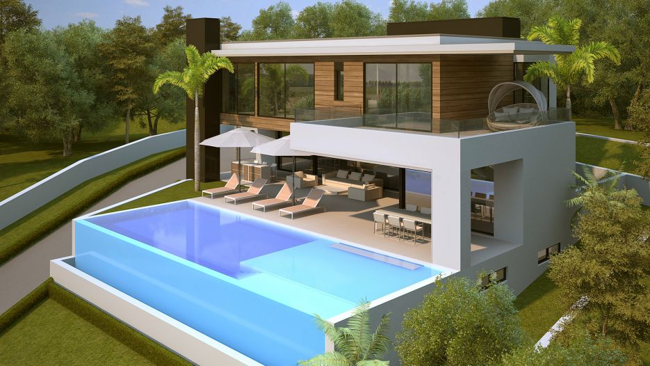 Plot with villa project and license for sale in Alquería