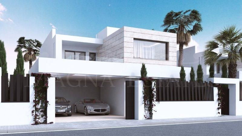 Newly built villas in Los Altos de Puente Romano
