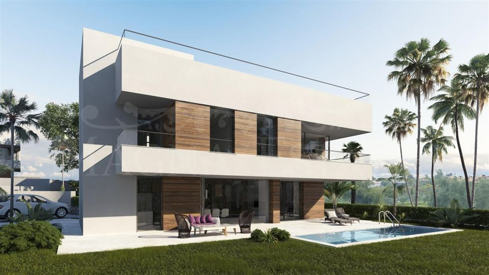 Complex of 4 villas of contemporary design in the Campanario, Estepona