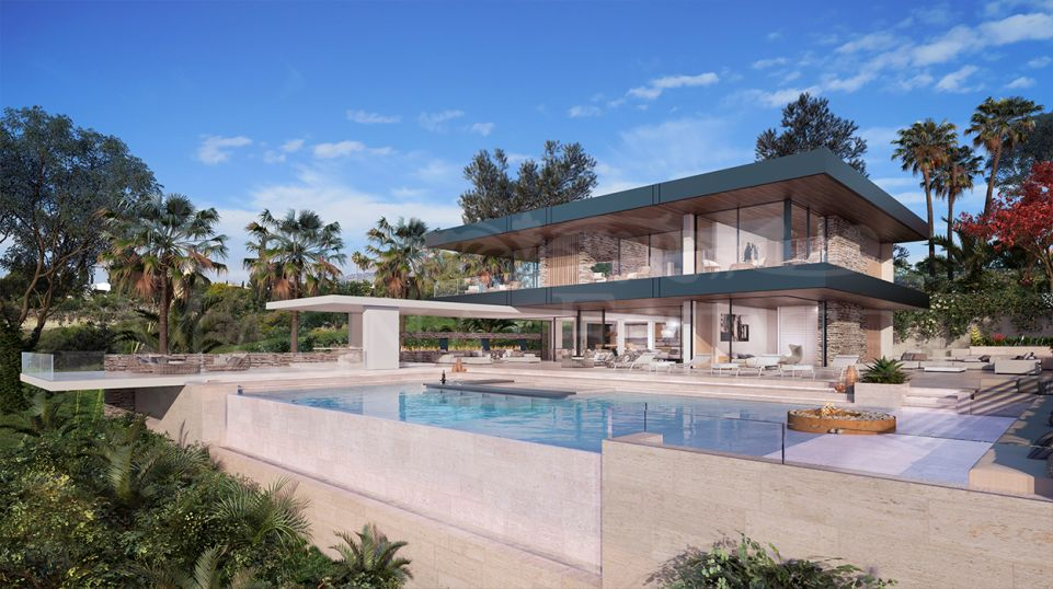 Beautiful modern design villa with spectacular sea views in La Quinta, Benahavís