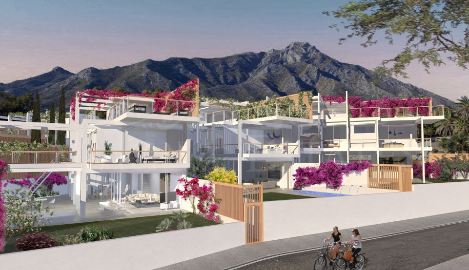 Villa in the center of Marbella with views to the sea and golf
