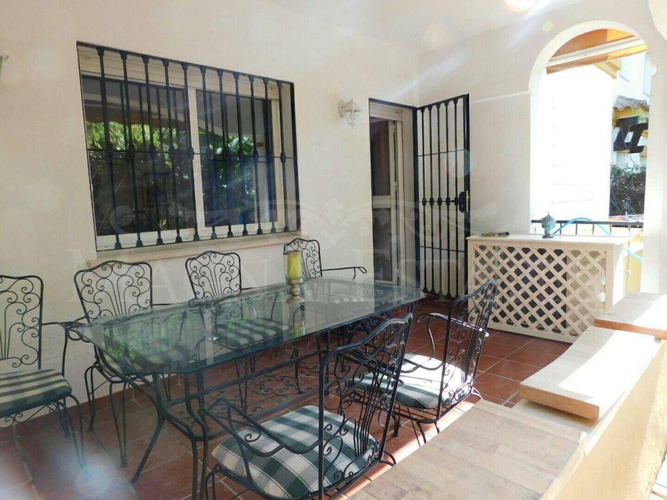 Elevated ground floor 3 bedroom garden apartment on Marbella's Golden Mile