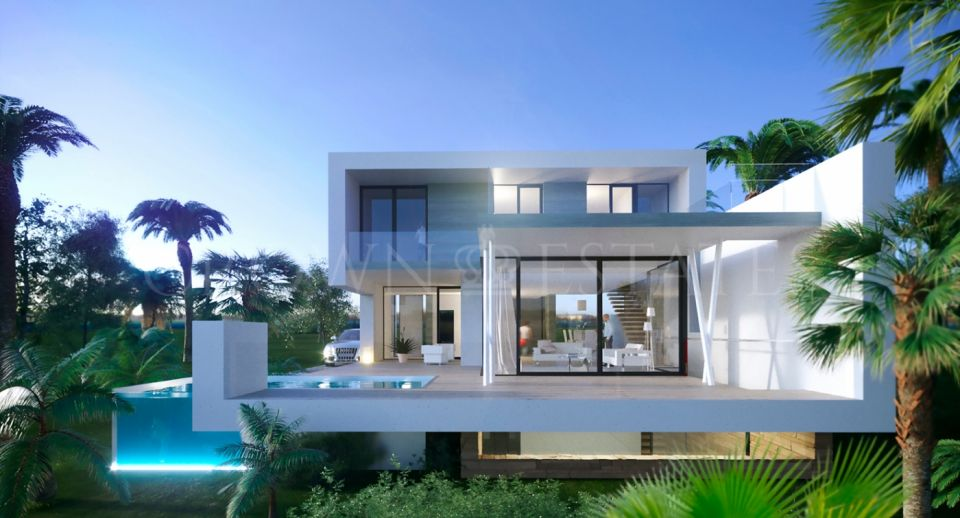 5 Modern frontline golf villas with luxurious qualities and exceptional finishes. Located in a privileged location in El Campanario.