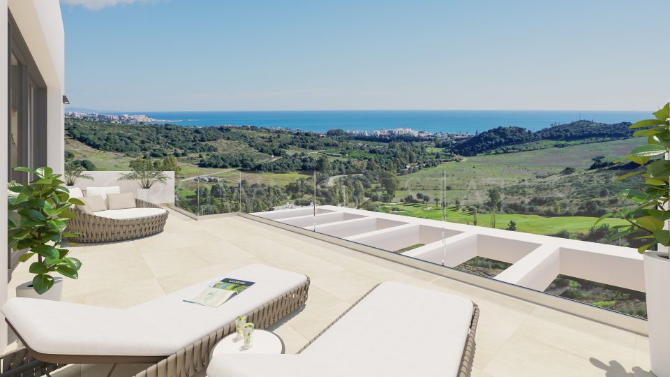 Mirador del Golf, exclusive apartments and penthouses with golf and seaviews in Estepona Golf