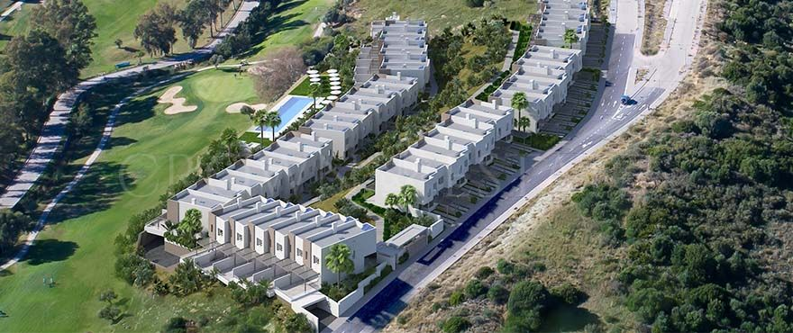 Green Golf, modern townhouses, golf frontline in Estepona