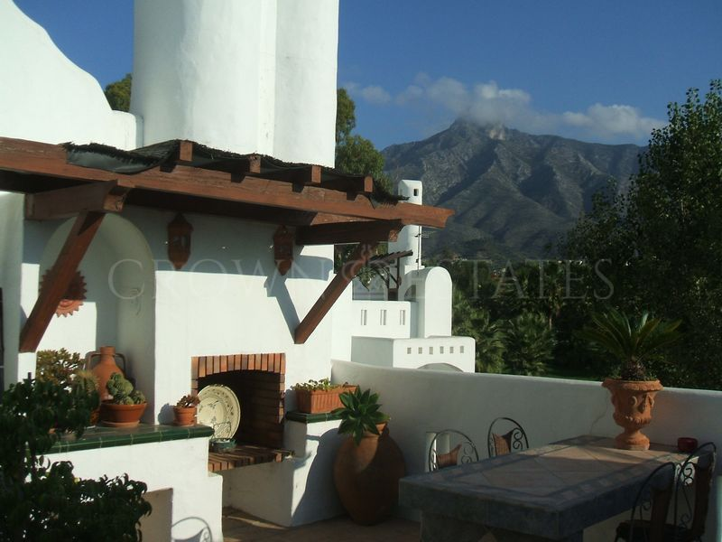 Southeast facing 3-bedroom townhouse in La Joya, Las lomas de Marbella Club