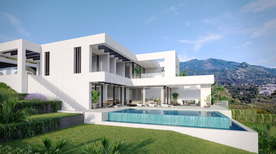 New project of modern villas in New Golden Mile, Estepona