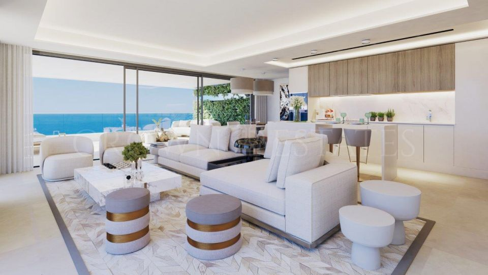 Incredible project of brand new apartments on the first beach line in Malaga city centre.