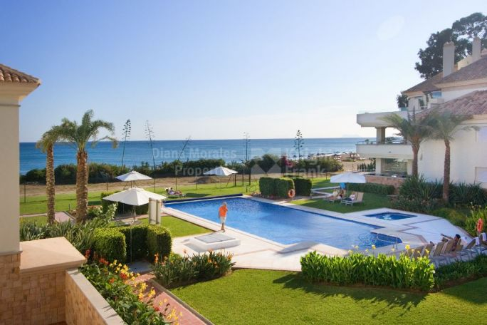 Estepona, First Floor Front Line Beach Apartment in Guadalmansa Playa