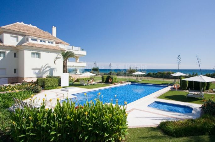 Estepona, First Line Beach Apartment with Frontal Sea Views in the New Golden Mile