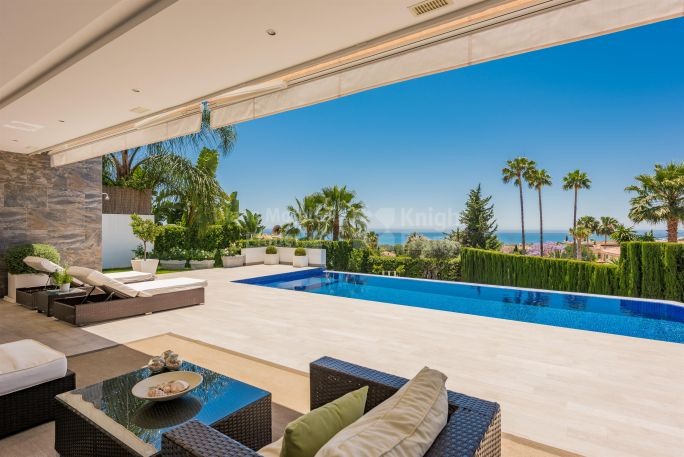 Marbella Golden Mile, Modern Style House With Sea Views