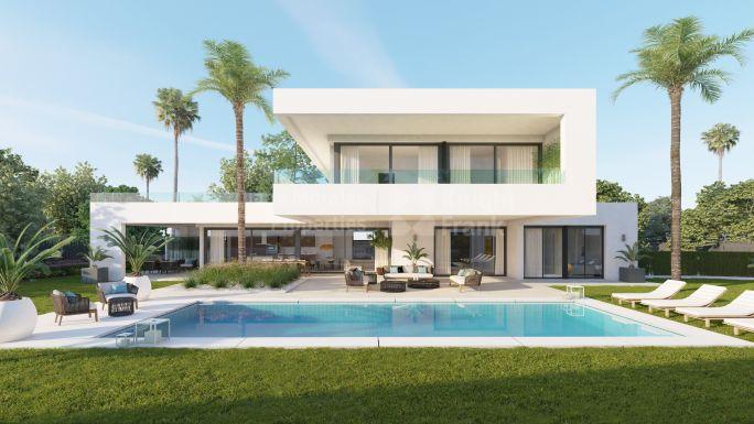 Villas y chalets de lujo en venta en marbella for Planos de chalets modernos