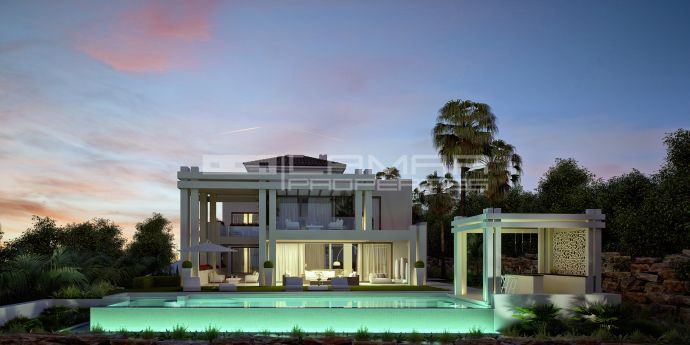 Modern frontline golf villa in Los Flamingos near Marbella