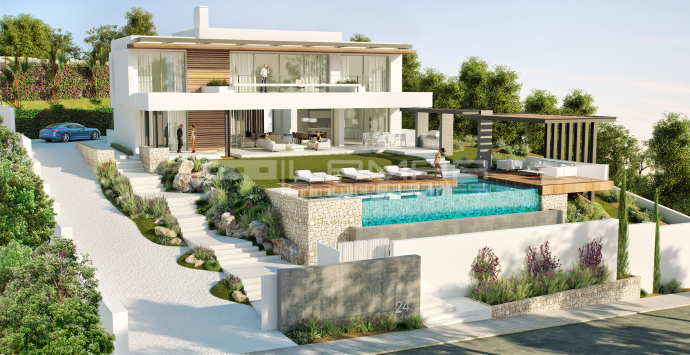 Brand new contemporary villa in Benahavis area