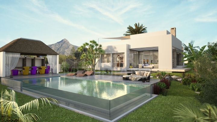 Brand new 5 bedroom luxury villa for sale in Nueva Andalucia Golf Valley in Marbella