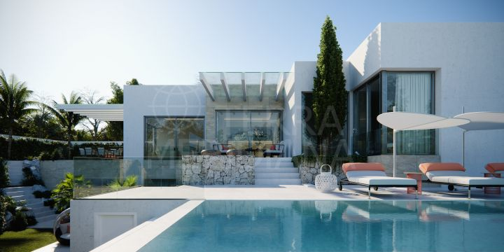Beautiful contemporary style villa with 4 bedrooms and sea views for sale in Mirador del Paraiso, Benahavis