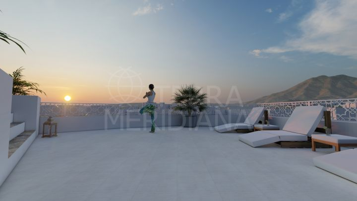 Unique off-plan two bedroom penthouse with private pool for sale in Estepona old town with garage