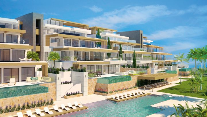 Magnificent brand new luxury 3 bedroom duplex penthouse for sale in El Paraiso, Benahavis