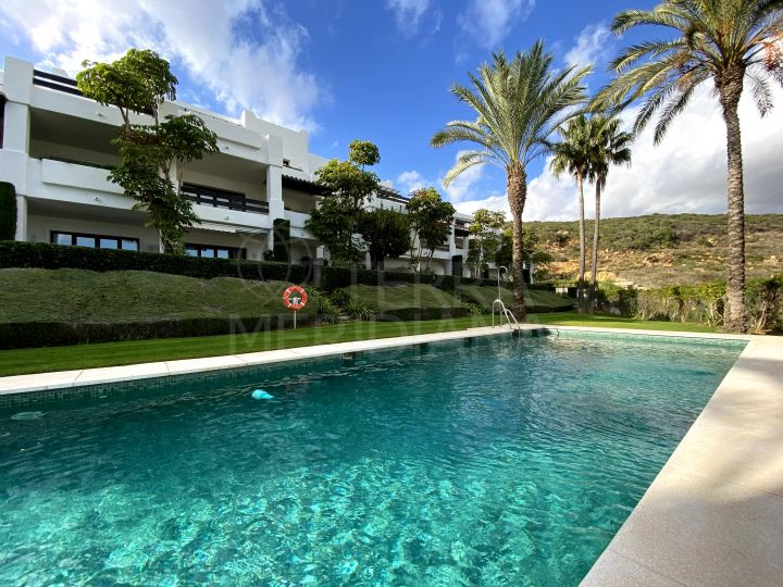 Fabulous 2 bedroom penthouse with sea views for sale inside the Finca Cortesin Golf Resort, Casares,