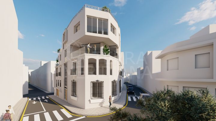 Unique off-plan one bedroom apartment for sale in Estepona old town with garage
