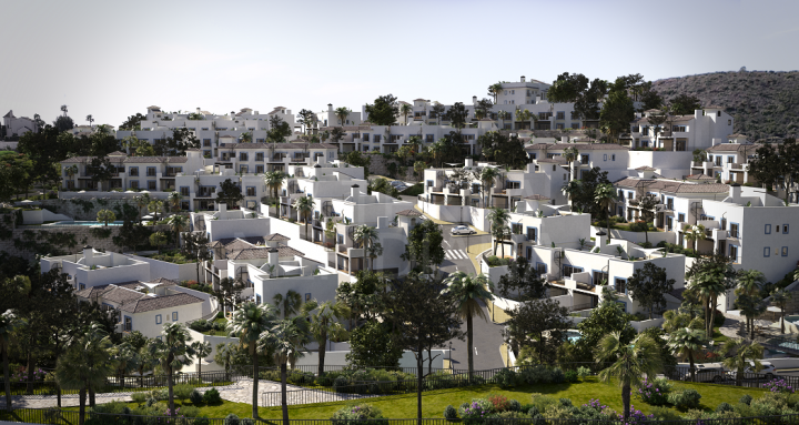Brand new three bedroom ground floor apartment for sale in Pueblo Paraiso, Benahavis