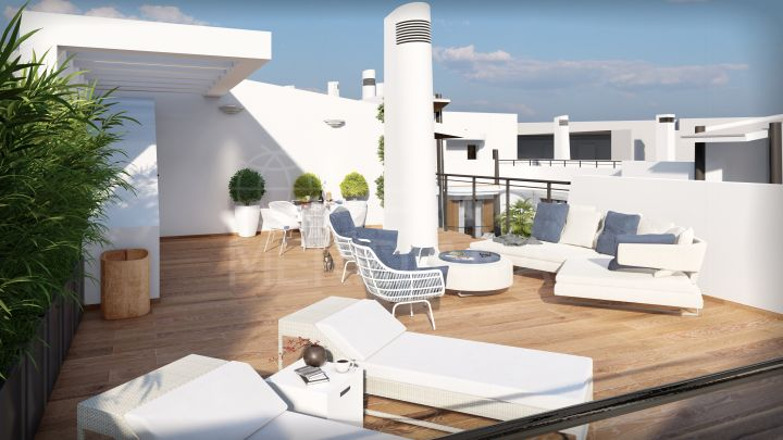 Off plan 2 bedroom penthouse apartment for sale in the old town of Estepona