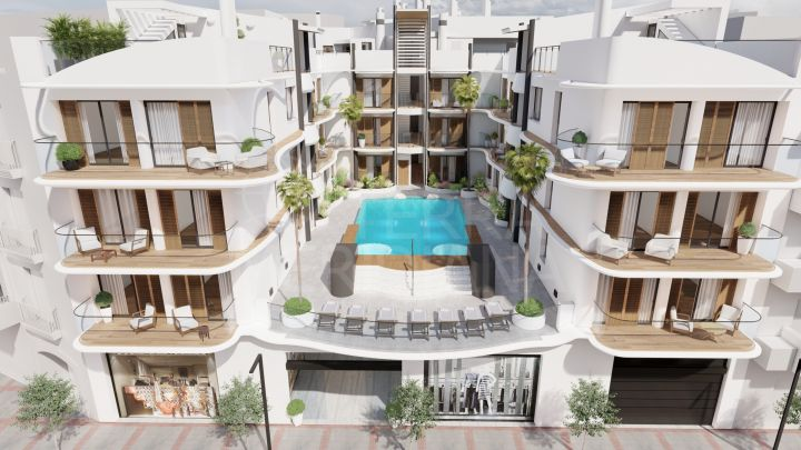 Off plan 2 bedroom ground floor apartment for sale in Ventura Estepona, old town of Estepona