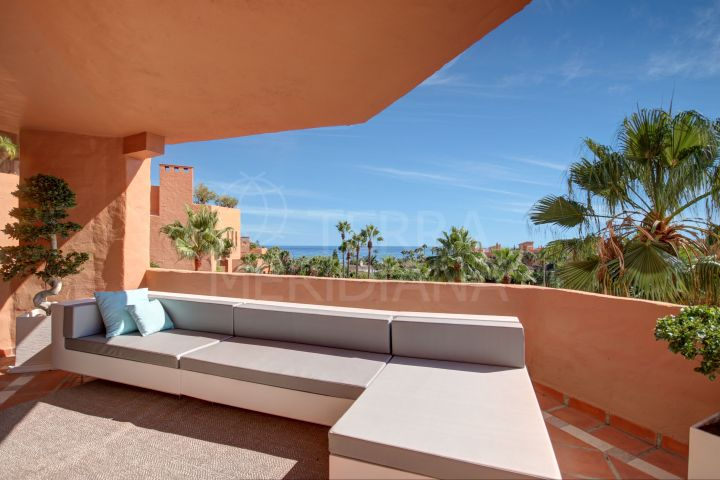 Beautiful 2 bedroom apartment with sea views for sale inside the Kempinski Hotel, Estepona