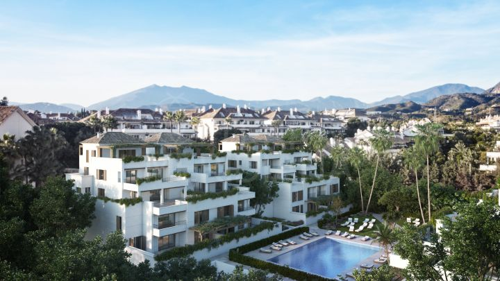 2 bedroom contemporary style duplex penthouse for sale in the Golden Mile, Marbella