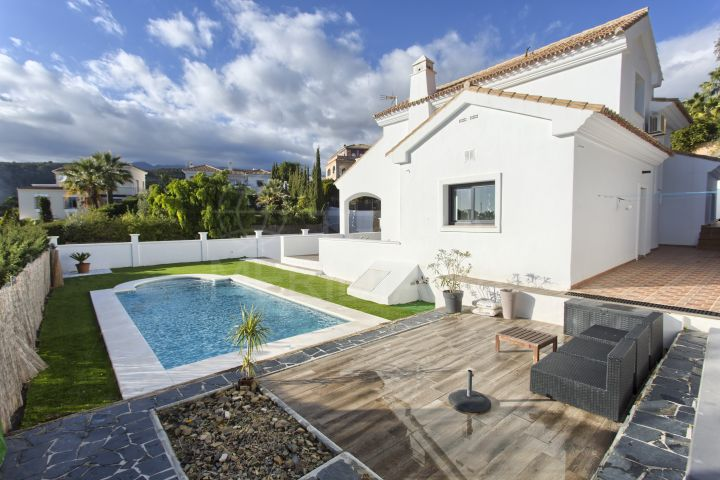 Renovated villa with panoramic mountain and sea views for sale in Forest Hills, Estepona