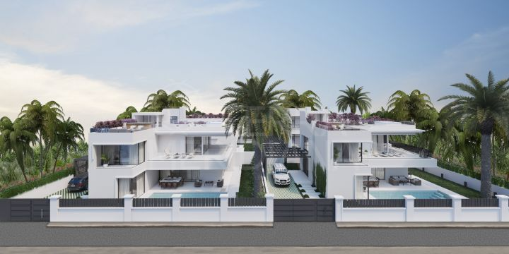 Contemporary style 5 Bedroom beachside villa for sale in Marbella's Golden Mile