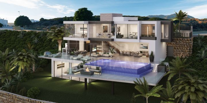 Brand new contemporary style luxury villa with 4 bedrooms and sea views for sale in Casares Playa