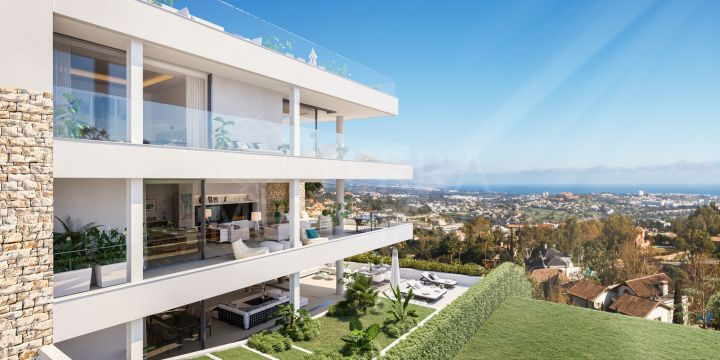 New built luxury 3 bedroom apartment with sea and golf views for sale in Grand View, La Quinta Benahavis