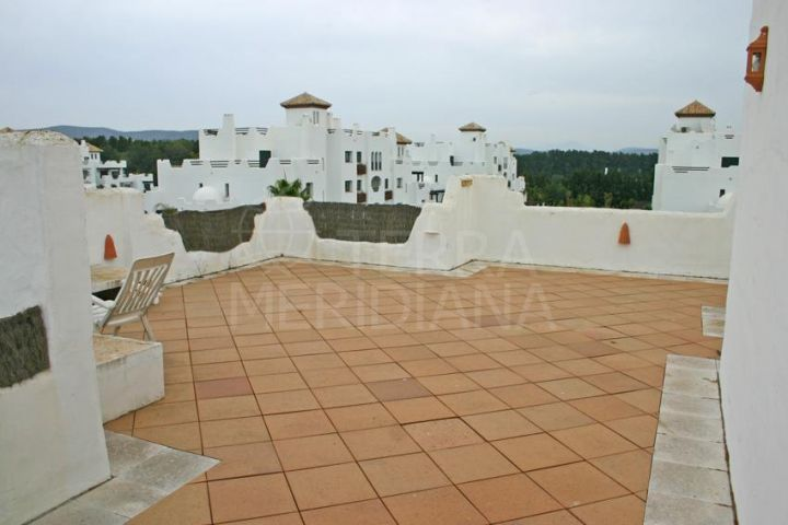 Fully furnished duplex penthouse for sale with views across Real Club de Golf, Sotogrande