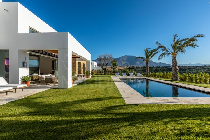 Contemporary new front line golf 6 bedroom modern villa, for sale in Cortesin Golf, Casares