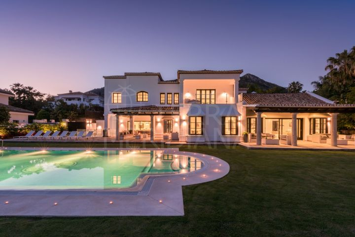 Contemporary villa for rent in Sierra Blanca, a luxurious estate located only minutes from Marbella centre